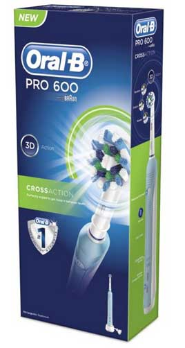 Oral B Pro 600 toothbrush in box